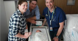 Brisbane obstetrician delivers rare baby